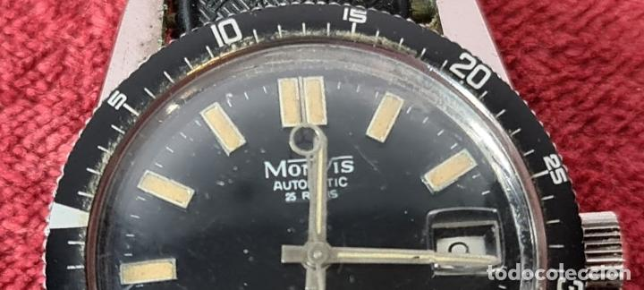 Relojes automáticos: RELOJ AUTOMATICO MONVIS. INCABLOC. 25 RUBIS. ACERO INOXIDABLE. CIRCA 1960. - Foto 6 - 243574590