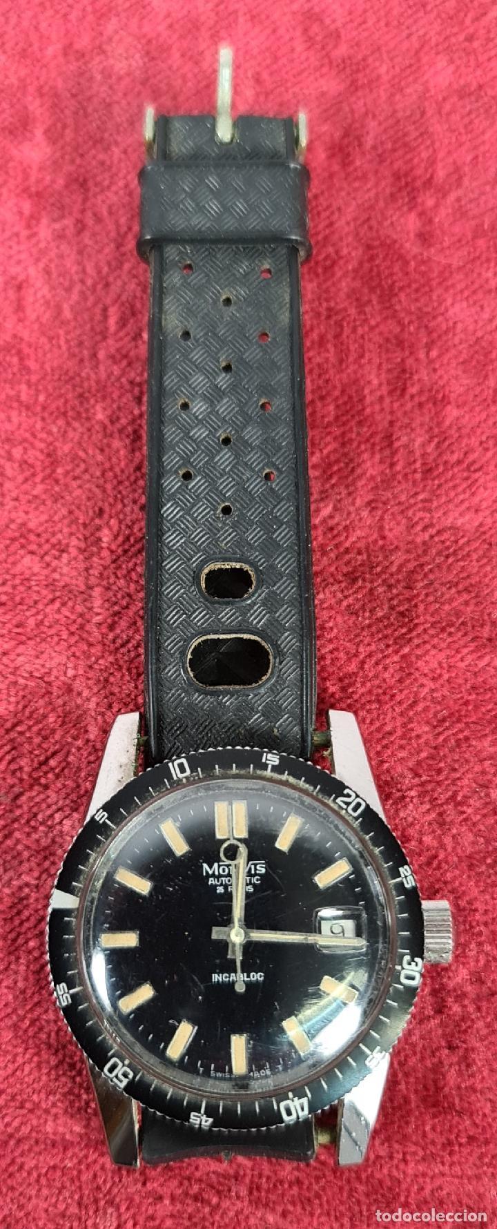 RELOJ AUTOMATICO MONVIS. INCABLOC. 25 RUBIS. ACERO INOXIDABLE. CIRCA 1960. (Relojes - Relojes Automáticos)