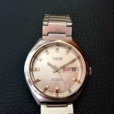 Relojes automáticos: SAVOY AUTOMÁTICO. ETA 2789-1. RELOJ VINTAGE. Lote 243863445