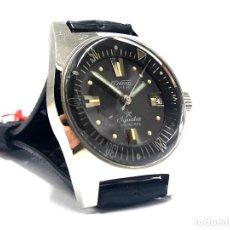 Relojes automáticos: GRAN RELOJ DEPORTIVO VINTAGE DUWARD AQUASTAR AÑOS 70 AUTOMÁTICO Y NUEVO. Lote 244516890