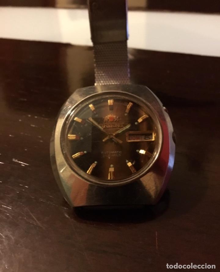 Relojes automáticos: Reloj Orient automático 21 jewels doble calendario correa original - Foto 2 - 244636770