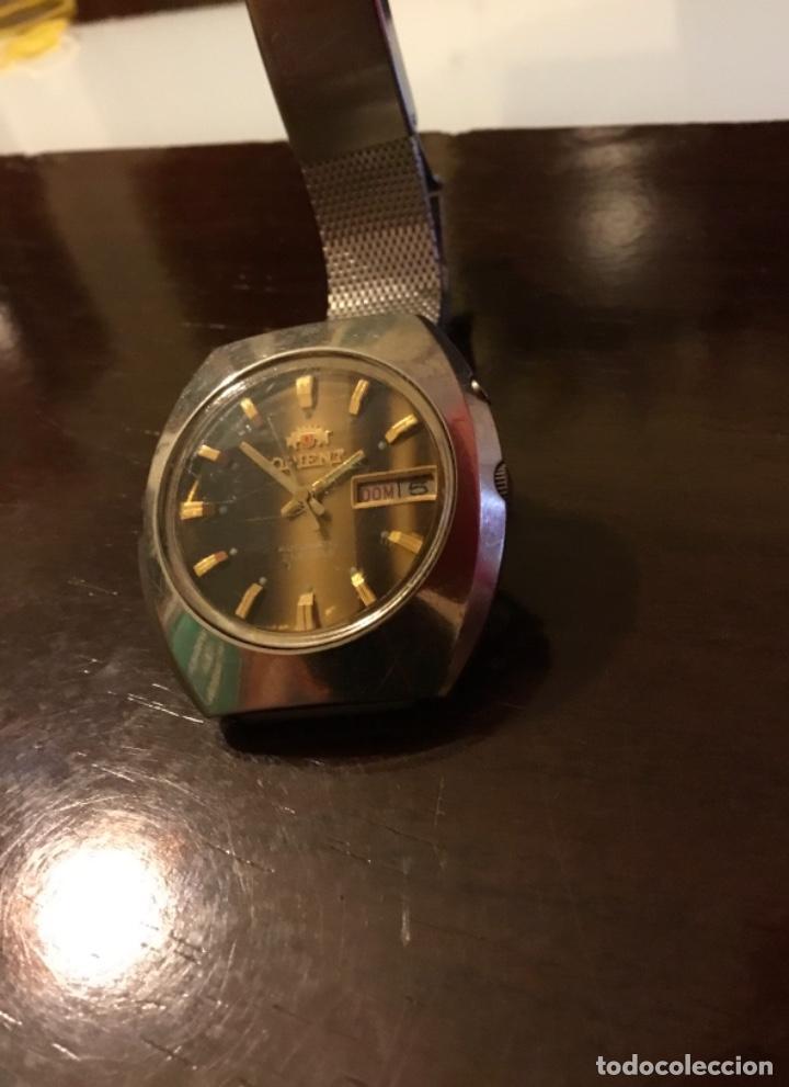 Relojes automáticos: Reloj Orient automático 21 jewels doble calendario correa original - Foto 3 - 244636770
