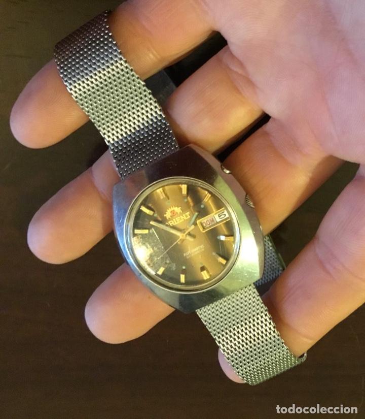 Relojes automáticos: Reloj Orient automático 21 jewels doble calendario correa original - Foto 7 - 244636770