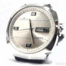 Relojes automáticos: GRAN RELOJ VINTAGE FORTIS TUXEDO AUTOMÁTICO Y NUEVO A ESTRENAR. Lote 244695290