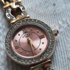 Relojes automáticos: RELOJ PULSERA SEÑORA ROTARY - ZAFIRO - CHAPADO EN ORO - SWISS MADE. . Lote 155092098