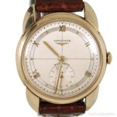 Relojes automáticos: LONGINES AUTOMATICO 1940S ORO 14K CAJA PAPELES. Lote 245066710