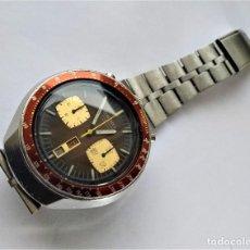 Relojes automáticos: RELOJ DE PULSERA HOMBRE CABALLERO SEIKO CHRONOGRAPH AUTOMATIC 6138 MARRÓN BULL BULLHEAD. Lote 246192945