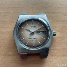 Relógios automáticos: CYMA BY SINCHRON CONQUISTADOR AUTOMATIC 17 JEWELS 36MM FUNCIONA. Lote 247666760