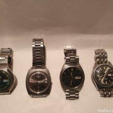 Relojes automáticos: SEIKO. LOTE DE 4 RELOJES AUTOMÁTICOS AÑOS 70. FUNCIONANDO.. Lote 247776590