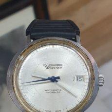 Relojes automáticos: RELOJ DE CABALLERO VASSER AUTOMATICO INCABLOK . FUNCIONANDO . CALENDARIO. Lote 253293880
