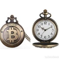 Relojes automáticos: RELOJ BOLSILLO SIMBOLO BITCOIN (CON CAJA). Lote 254101675