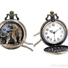 Relojes automáticos: RELOJ BOLSILLO TIGRE LEON (CON CAJA). Lote 254101880