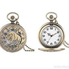 Relojes automáticos: RELOJ BOLSILLO TORO TAURUS (SIMBOLO DEL ZODIACO) (CON CAJA). Lote 254102015