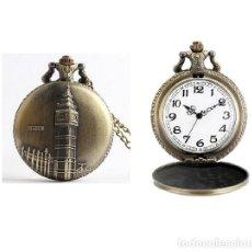 Relojes automáticos: RELOJ BOLSILLO TORRE DEL RELOJ LONDRES BIG BEN (CON CAJA). Lote 254102050