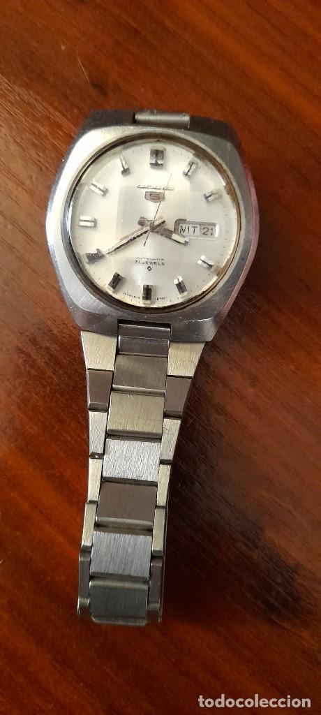 Relojes automáticos: antiguo reloj de pulsera caballero,automatico seiko 5, 21 jewels - Foto 2 - 255920330