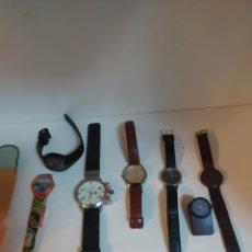 Relojes automáticos: LOTE 7 RELOJES CASIO, SWATCH,, LTC, CALGARY, AKTEO, TISSOT WOODWATCH. Lote 257335745