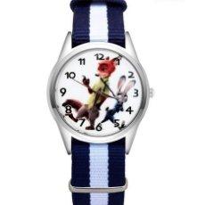 Relojes automáticos: RELOJ ZORRO Y CONEJO (CORREA DE NAILON NYLON) (CON CAJA). Lote 257357655