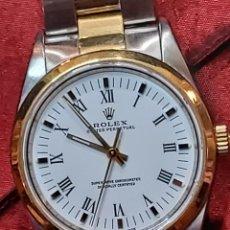 Relojes automáticos: SENSACIONAL RELOJ ROLEX IMPECABLE ORO MIXTO BRAZALETE OYSTER ESFERA BLANCA. Lote 257399490