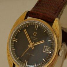 Relojes automáticos: CYMA NAVISTAR AUTOMATICO CHOCOLATE FUNCIONANDO 35MM MANUFACTURA. Lote 257480940