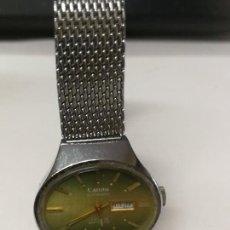 Relojes automáticos: RELOJ MARCA CANON AUTOMATIC 17 RUBIS ANTICHOC CON CALENDRIO SWISS MAD FUNCIONA. Lote 260688740