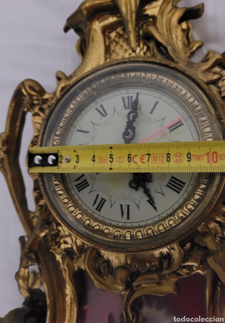 Relojes automáticos: Antiguo reloj de bronce no funcionando (peso en bronce 7,413 kilos) - Foto 14 - 257621525
