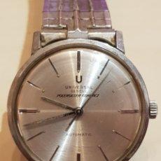 Relojes automáticos: ANTIGUO RELOJ UNIVERSAL GENEVE POLEROUTER COMPACT AUTOMATIC FUNCIONANDO GRAN ESTADO. Lote 263590370