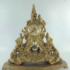 Relojes automáticos: FABULOSO RELOJ MADERA TALLADA ÚNICO EXCLUSIVO. Lote 264046710