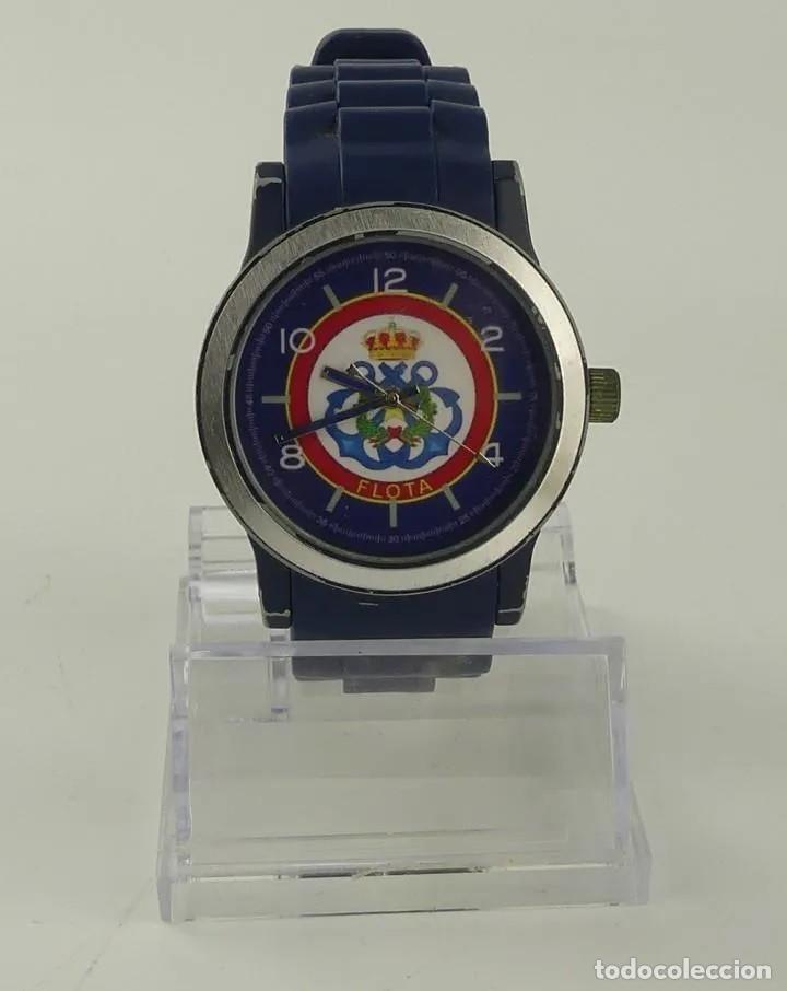 Relojes automáticos: Reloj militar de pulsera automático LA FLOTA con banda en caucho azul marino. inn - Foto 2 - 268977559