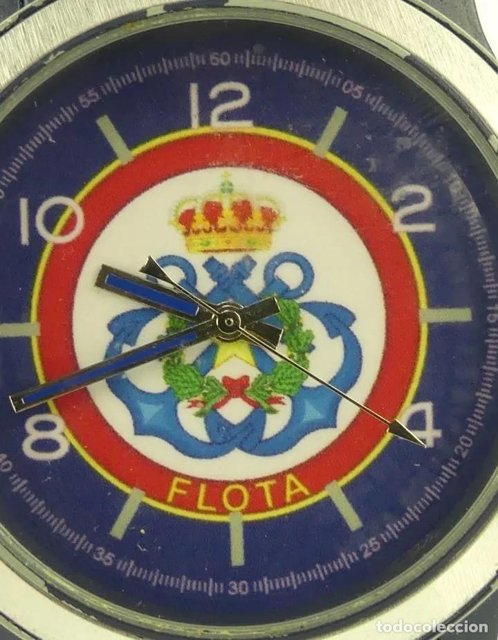 Relojes automáticos: Reloj militar de pulsera automático LA FLOTA con banda en caucho azul marino. inn - Foto 3 - 268977559