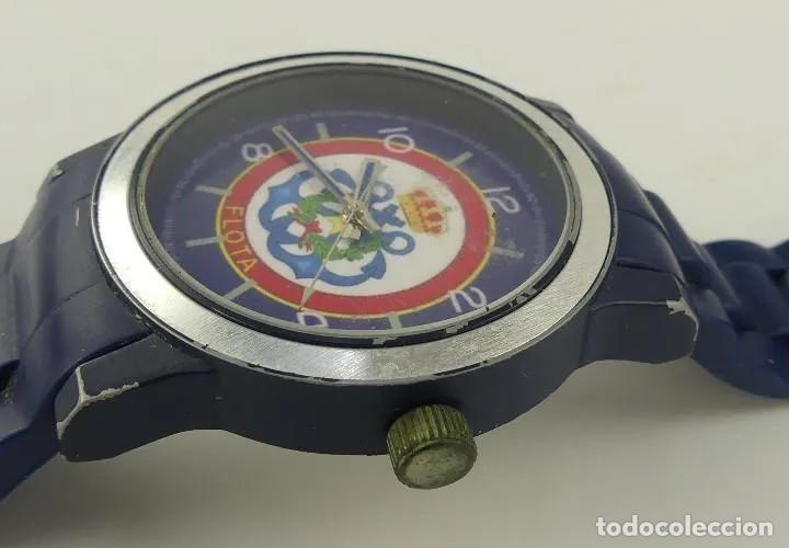 Relojes automáticos: Reloj militar de pulsera automático LA FLOTA con banda en caucho azul marino. inn - Foto 5 - 268977559