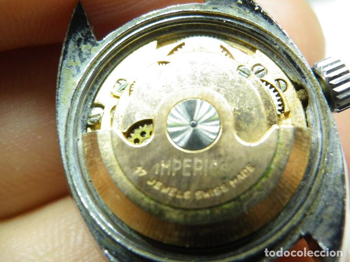 Relojes automáticos: ORIGINAL IMPERIOS AUTOMATICO GRAN RELOJ DAMA VOLANTE OK NO FUNCIONA LOTE WATCHES - Foto 6 - 269320883