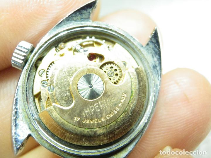 Relojes automáticos: ORIGINAL IMPERIOS AUTOMATICO GRAN RELOJ DAMA VOLANTE OK NO FUNCIONA LOTE WATCHES - Foto 8 - 269320883