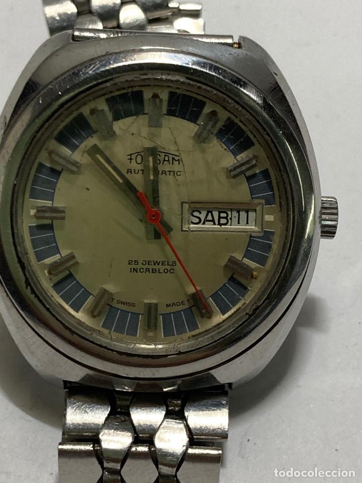 RELOJ FORSAM AUTOMATICO DOBLE CALENDARIO 25 JEWELS EN PERFECTO ESTADO CAJA DE ACERO (Relojes - Relojes Automáticos)