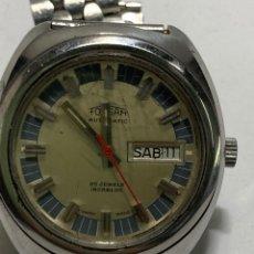 Relojes automáticos: RELOJ FORSAM AUTOMATICO DOBLE CALENDARIO 25 JEWELS EN PERFECTO ESTADO CAJA DE ACERO. Lote 269386358