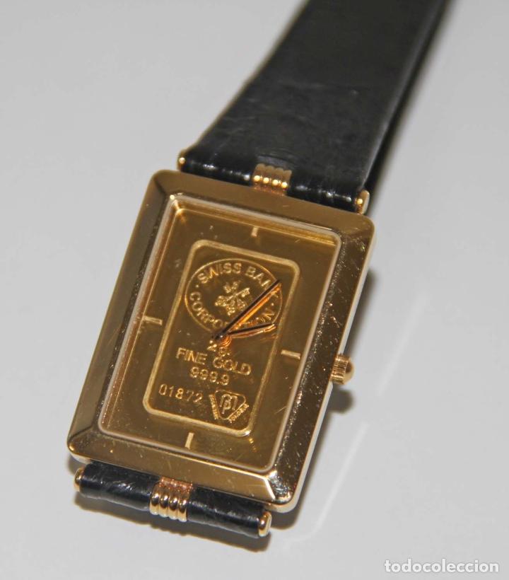 RELOJ DE PULSETRA.ZITURA. CAJA PLAQUÉ ORO. DIAL ORO 24 KT (2 GR). FUNCIONA. SUIZA (Relojes - Relojes Automáticos)