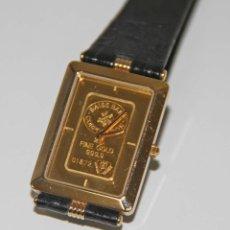 Relojes automáticos: RELOJ DE PULSETRA.ZITURA. CAJA PLAQUÉ ORO. DIAL ORO 24 KT (2 GR). FUNCIONA. SUIZA. Lote 57096210