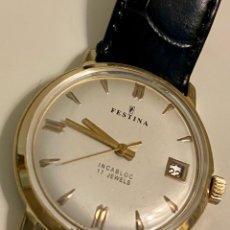 Relojes automáticos: FESTINA AÑOS 50 AUTO CHAPADO ORO. Lote 270971858