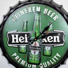 Relojes automáticos: RELOJ DE PARED HEINEKEN NUEVO. Lote 276953958