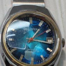 Relojes automáticos: RELOJ CABALLERO SORIENTER CALENDAR AUTOMATIC ESFERA AZUL FUNCIONANDO. Lote 277243238