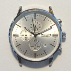 Relojes automáticos: MEGIR CHRONOGRAPH NUEVO SIN CORREA QUARZO MUY ELEGANTE.. Lote 278961613