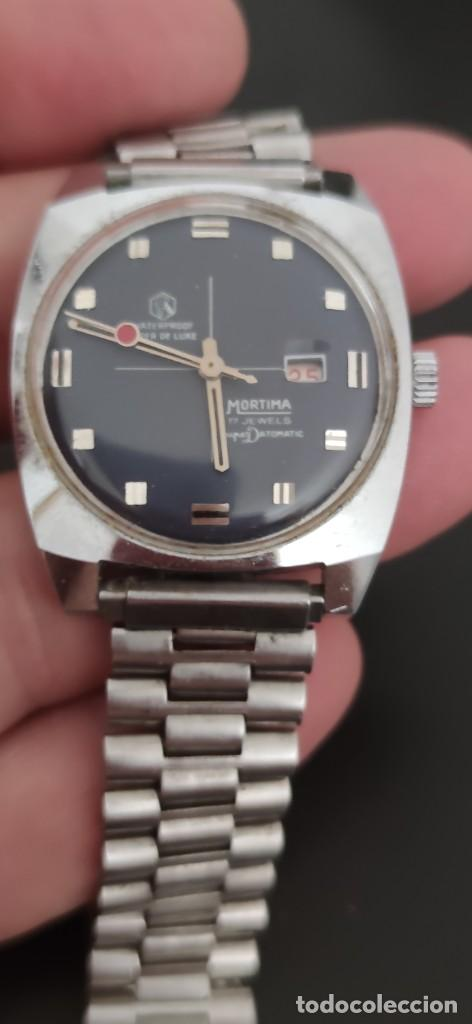Relojes automáticos: MORTIMA SUPERDATOMATIC, RELOJ AÑOS 70 AUTOMÁTICO VINTAGE FUNCIONANDO, UNA PRECIOSIDAD. - Foto 9 - 279362098