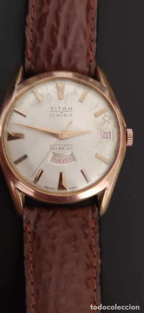 Relojes automáticos: TITAN 17 RUBIS AUTOMATICO, DOBLE CALENDARIO, VINTAGE ,FUNCIONANDO, PRECIOSO. - Foto 2 - 279367343