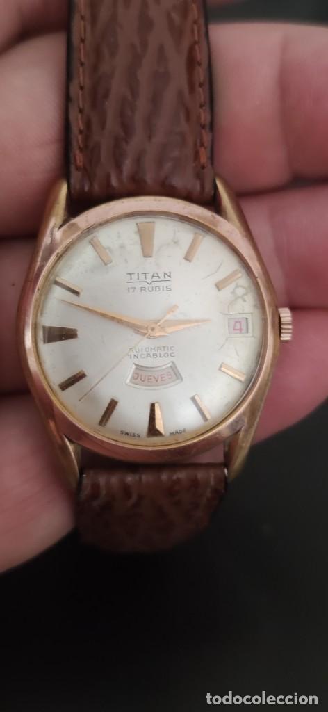 Relojes automáticos: TITAN 17 RUBIS AUTOMATICO, DOBLE CALENDARIO, VINTAGE ,FUNCIONANDO, PRECIOSO. - Foto 14 - 279367343