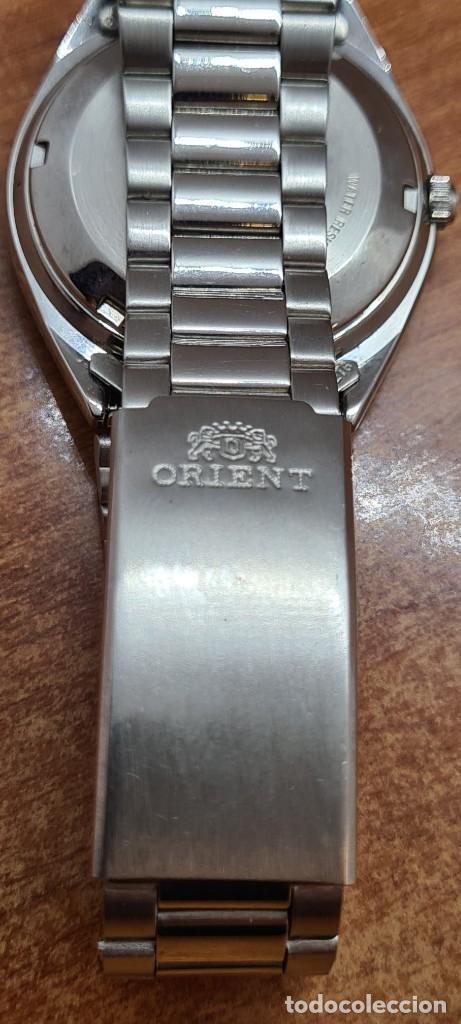 Relojes automáticos: Reloj (Vintage) ORIENT automático de acero, esfera blanca, calendario las tres, correa acero Orient - Foto 14 - 284411993