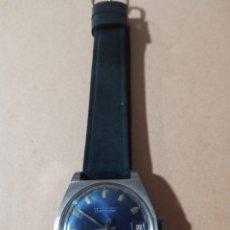 Relojes automáticos: ANTIGUO RELOJ MARCA THERMIDOR INCABLOC AUTOMÁTICO. CON CALENDARIO CON ESFERA AZUL FUNCIONANDO. Lote 285169853