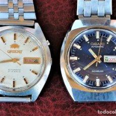 Relojes automáticos: COLECCION 2 RELOJES VINTAGE AUTOMATICOS,1960/70 ORIENT Y OSAKI MARCA DE DUWARD,EN ACERO.FUNCIONANDO. Lote 285761998