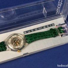 Relojes automáticos: SWATCH ~ AUTOMATIC COMO NUEVO SIN USO PAPELES Y GARANTIA CORREA EN PIEL.. Lote 287168708