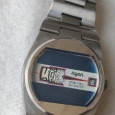 Relojes automáticos: ANTIGUO Y RARO RELOJ NYON DIGITAL AUTOMATIC, AÑOS 1960. Lote 287409783