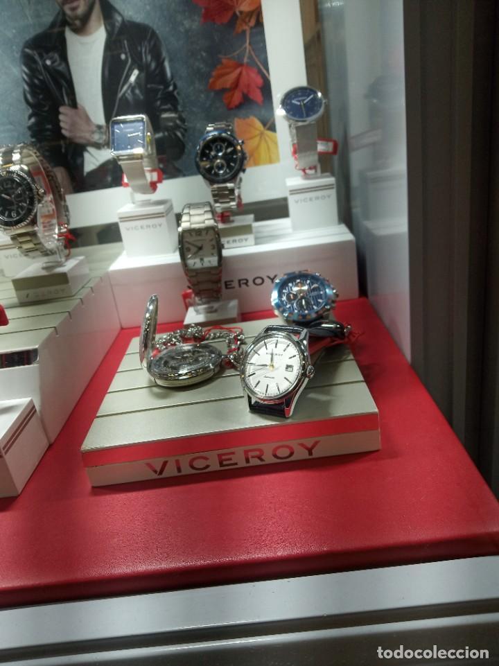 Relojes automáticos: Viceroy 46601-87 grande automático nuevo años 2010. Original viceroy. - Foto 10 - 269456003