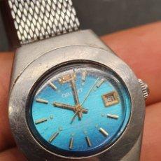 Relojes automáticos: RELOJ AUTOMÁTICO ORIENT 21 JEWELS CON CALENDARIO DE SEÑORA EN ACERO INOXIDABLE VINTAGE. VER FOTOS.. Lote 107229995